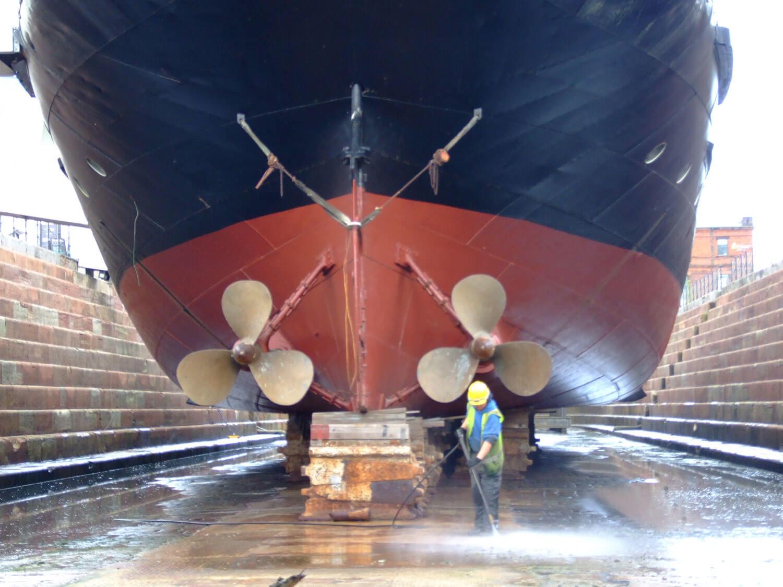 Whitehouse Service pressure washing SS Nomadic